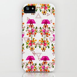 Watercolor Floral & Triangle Pattern Home Goods Design iPhone Case