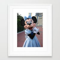 minnie mouse Framed Art Prints featuring Minnie Mouse by Jackash14