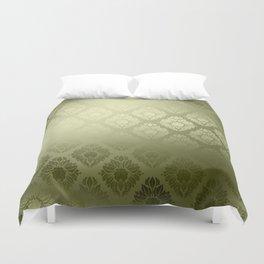"""""""Olive Damask Pattern"""" Duvet Cover"""