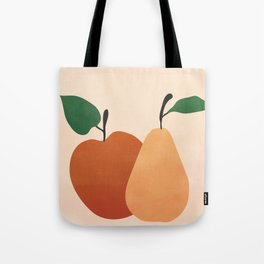 An Apple and a Pear Tote Bag