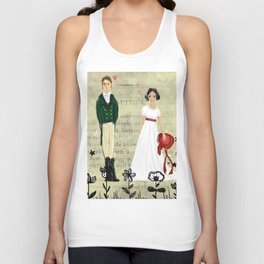 Mr.Darcy of Pemberley and Miss Bennet of Longbourn Unisex Tank Top