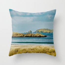 Bosta Beach, Isle of Lewis, Scotland. Throw Pillow