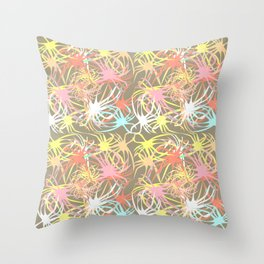 Connectivity - Neutral Throw Pillow