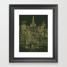 Paris! Olive Framed Art Print
