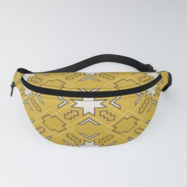 Ethnic pattern in yellow Fanny Pack