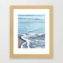 Saltwater Framed Art Print