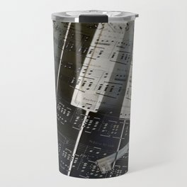 Piano Keys black and white - music notes Travel Mug