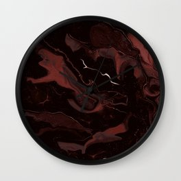 Abstract Astronomy in Crimson Red Wall Clock
