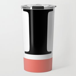 Monogram Letter I-Pantone-Peach Echo Travel Mug