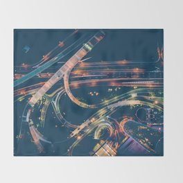 City in the sky fantastic Throw Blanket
