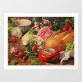 French Picnic Art Print