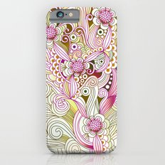 Flower fire   yellow, purple, green and ocre iPhone 6 Slim Case