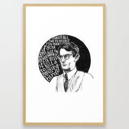 Atticus Finch Framed Art Print
