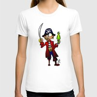 pirate T-shirts featuring Pirate by Cardvibes.com - Tekenaartje.nl