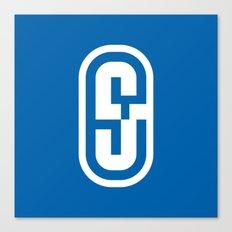 S04 Typographic Logo Canvas Print
