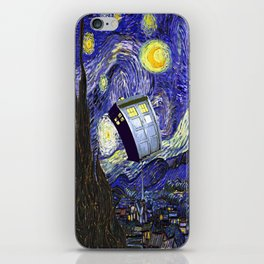 TARDIS STARRY NIGHT iPhone Skin