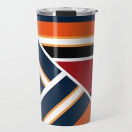 Retro . Combined stripes . Travel Mug