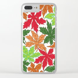 Leaves pttern Clear iPhone Case
