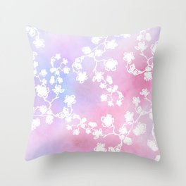Sakura 2 Throw Pillow