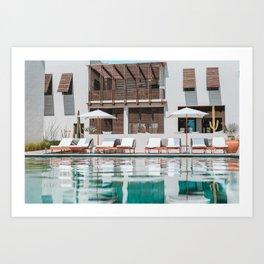 Poolside in Todos Santos Art Print