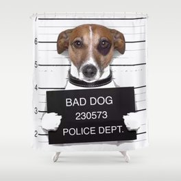 bad dog Shower Curtain