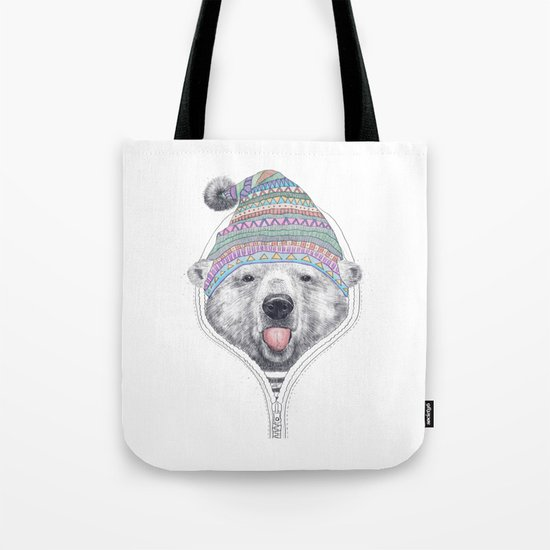 The Bear in a hood Tote Bag