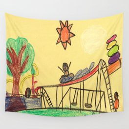 Water Play Park Wall Tapestry