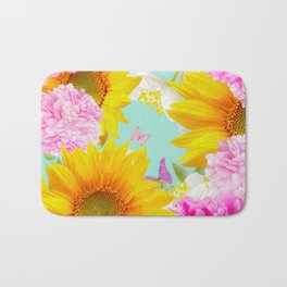 Summer Vibes With Colorful Flowers #decor #society6 #buyart Bath Mat