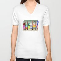 eugenia loli V-neck T-shirts featuring Imaginary Adventure by dorc
