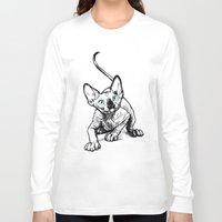 sphynx Long Sleeve T-shirts featuring Sphynx by Sara (aka Wisney)