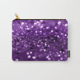 Purple Lady Glitter #1 #shiny #decor #art #society6 Carry-All Pouch