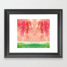Watermelon drops Framed Art Print