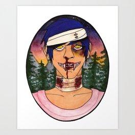 Vampire Guys Will Never Hurt You Art Print