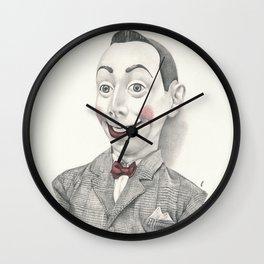"""""""Portrait of Pee-wee Herman"""" Wall Clock"""