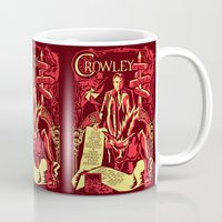 crowley Mugs featuring Crowley by Tracey Gurney