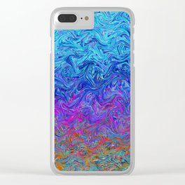 Fluid Colors G255 Clear iPhone Case