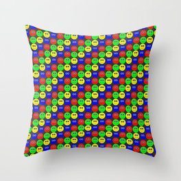 Phillip Gallant Media Design - Smileys (Various) on Black Throw Pillow