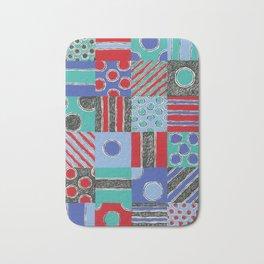 Spot Stripe Patch Scratch Print by Nettie Heron-Middleton Bath Mat
