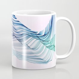 Etherial Wave - blue, mint and pale pink on white Coffee Mug