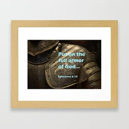 Put on Armour Framed Art Print