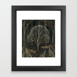 Glowing tree Framed Art Print