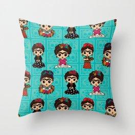 Little Fridas Throw Pillow