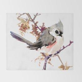 Bird - Titmouse Throw Blanket