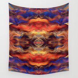 Beautiful Boho Ethnic Vibe Southwestern Sunset Colors Abstract Wall Tapestry