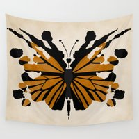 rorschach Wall Tapestries featuring Rorschach Monarch by AdamAether