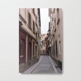 European Alleys Metal Print