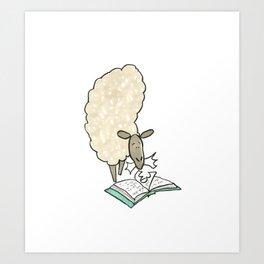Hungry Sheep Art Print