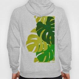 Green Monstera Leaves White Background #decor #society6 #buyart Hoody