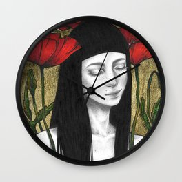 POPPY SLEEP Wall Clock