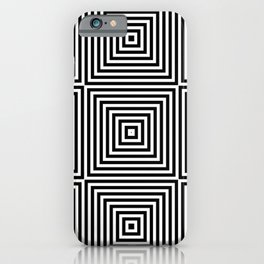 Square Optical Illusion Black And White iPhone Case
